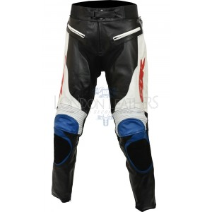 Honda CBR Blue Real Leather Motorcycle Pant